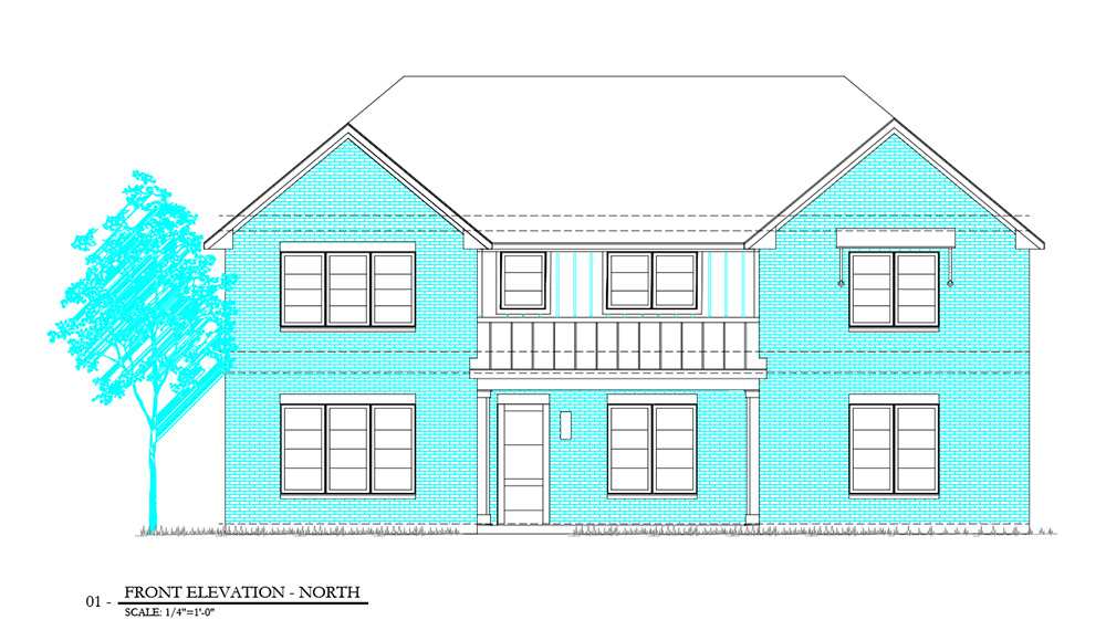 Caruth Custom Homes front elevation image
